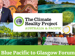 The Climate Reality Project - Blue Pacific to Glasgow Forum