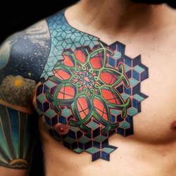 full color chest mandalla and geometry