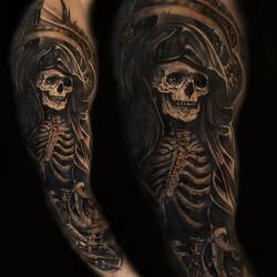 grim reaper black and grey oscar zornosa