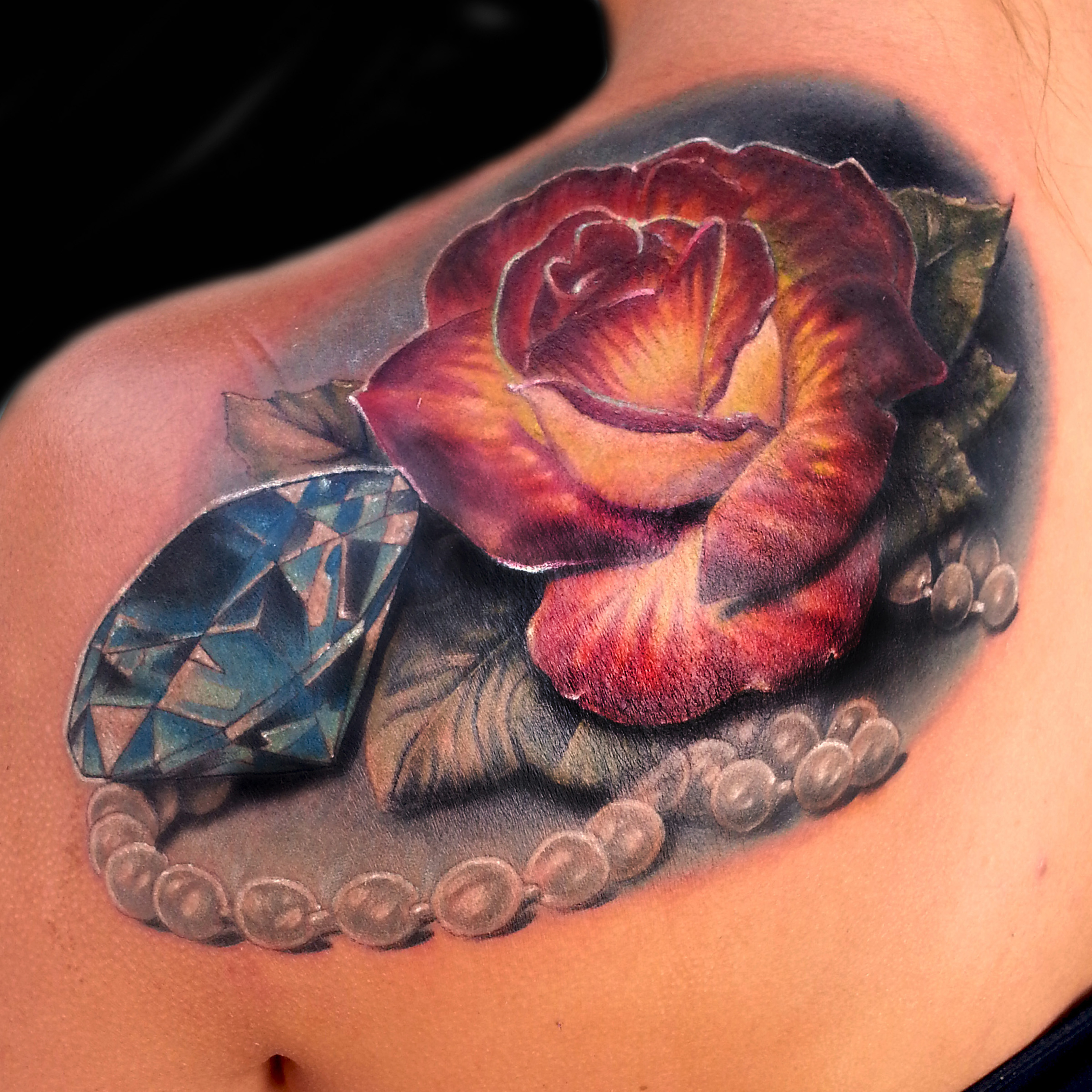 13 rose diamond pearl