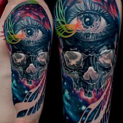 22 inverted skull cosmic eye space oscar