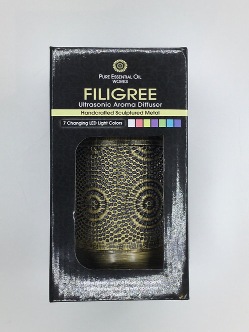 Pure Essential Oil Works FILIGREE Ultrasonic Aroma Diffuser