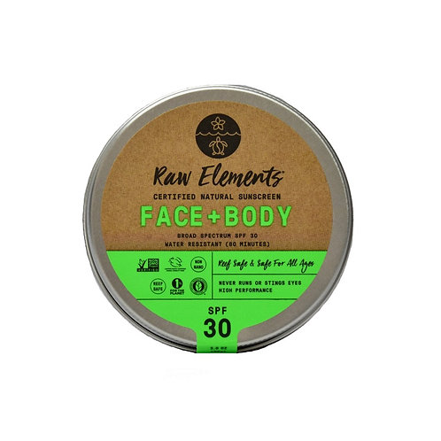 Raw Elements Face+Body Sunscreen Tin