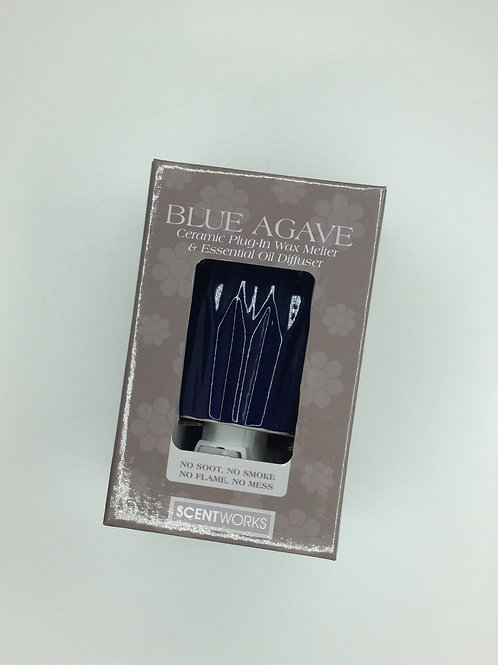 Blue Agave Ceramic Plug-In Wax Melter and Essential Oil Diffuser