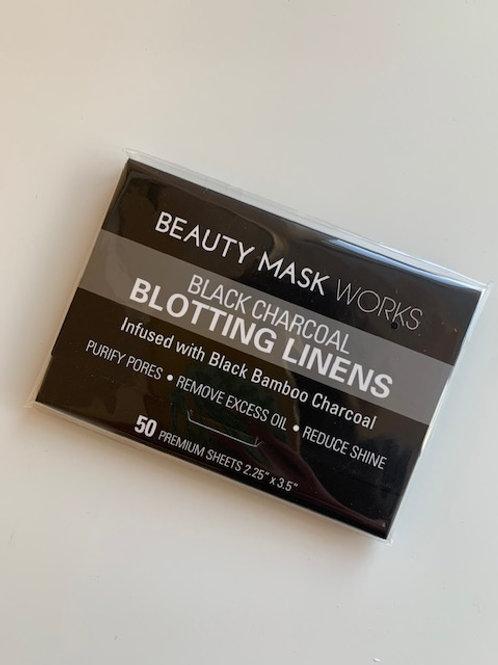 Black Charcoal Blotting Linens (50 sheets)