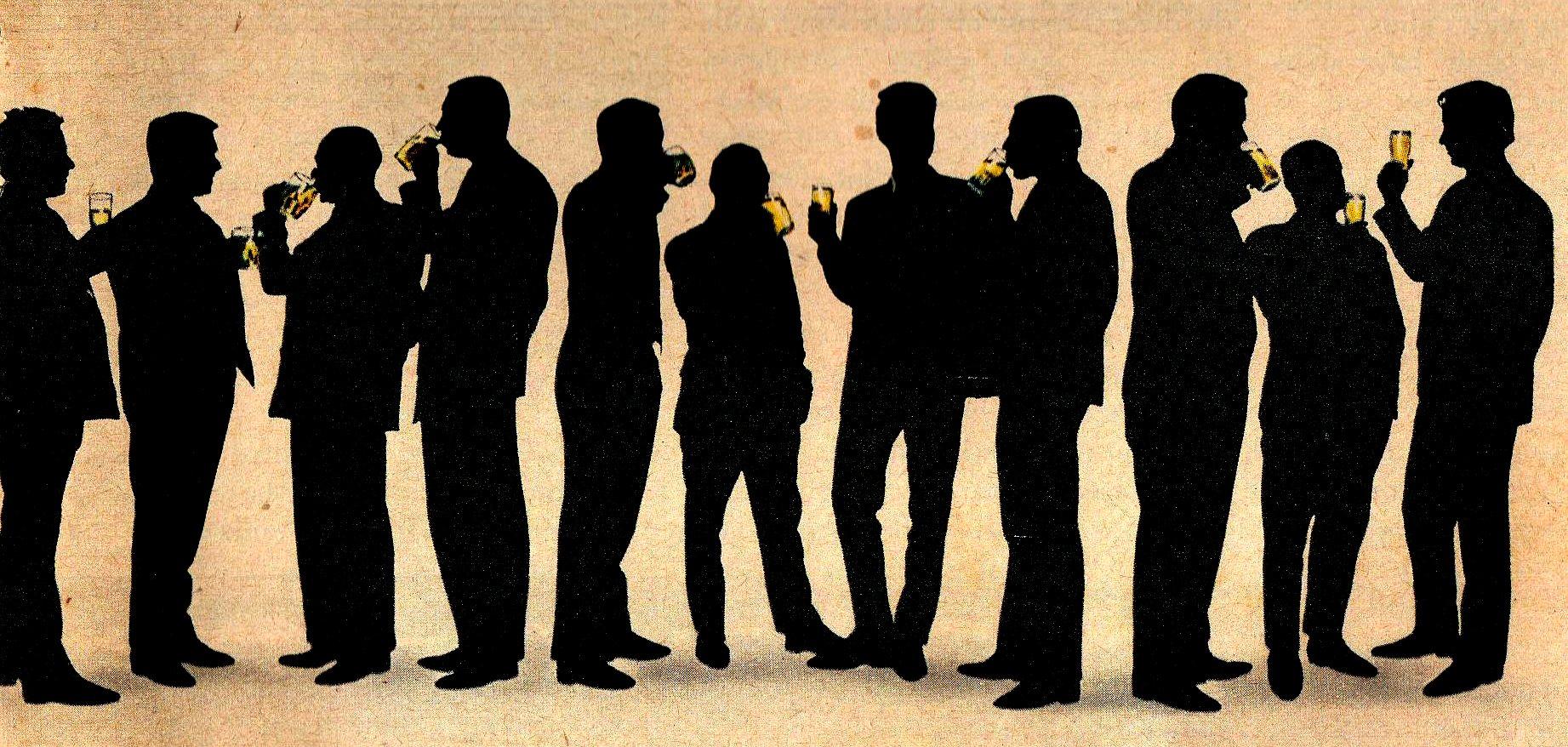 men at drink
