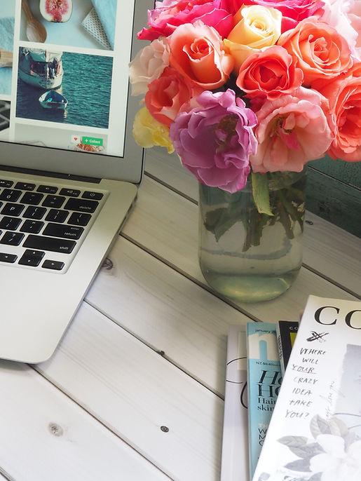 laptop fleurs forfait stylisme quebec