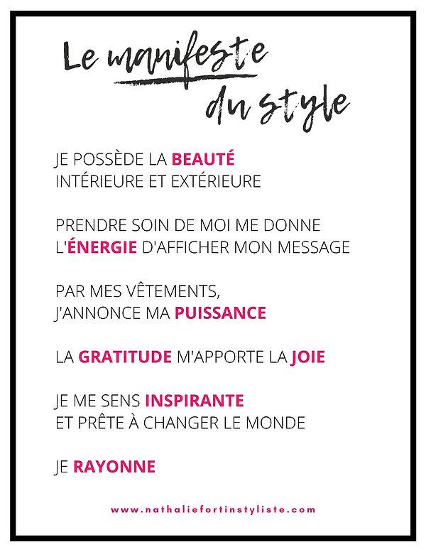Le manifeste du style par Nathalie Forti