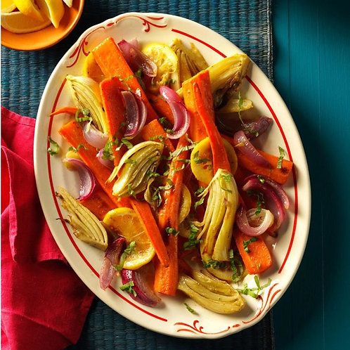 Roasted Fennel and Carrots 1 serving