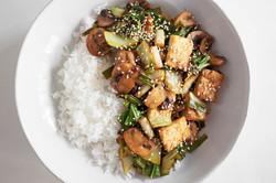 Tofu Mushroom Stir Fry