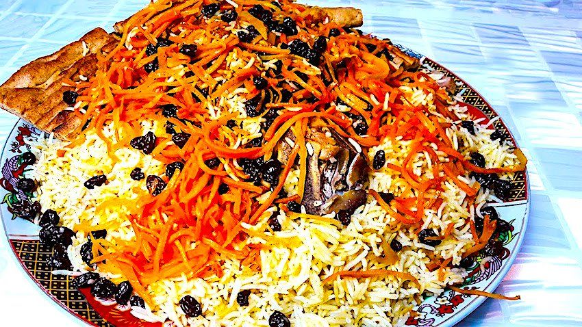 Carrot-raisin Pullao