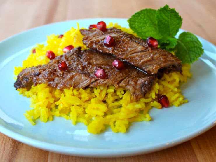 Pomegranate-Molasses-Brisket