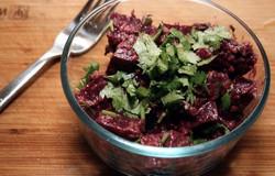 Beet Salad with Cilantro and Walnuts