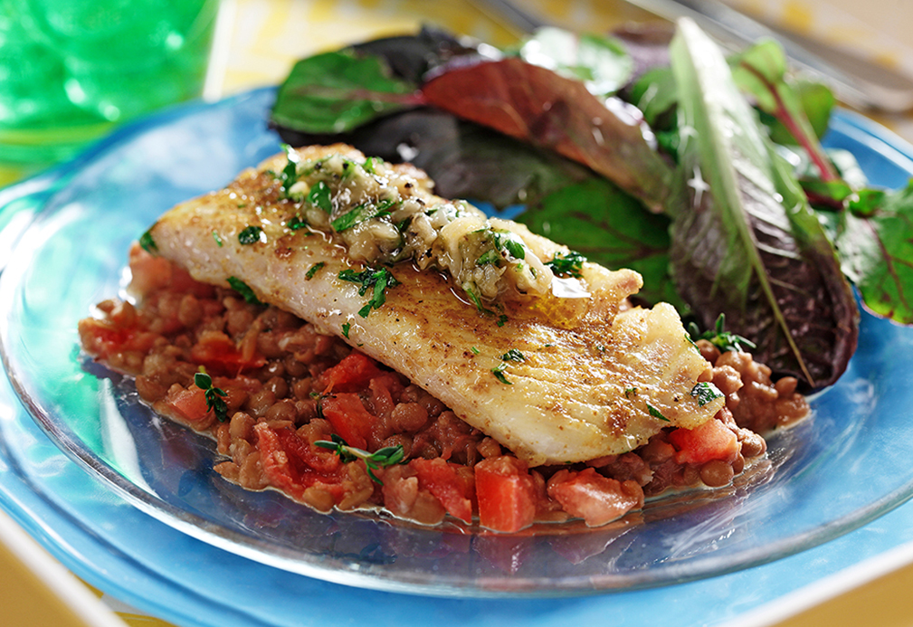 Tilapia with Lentils