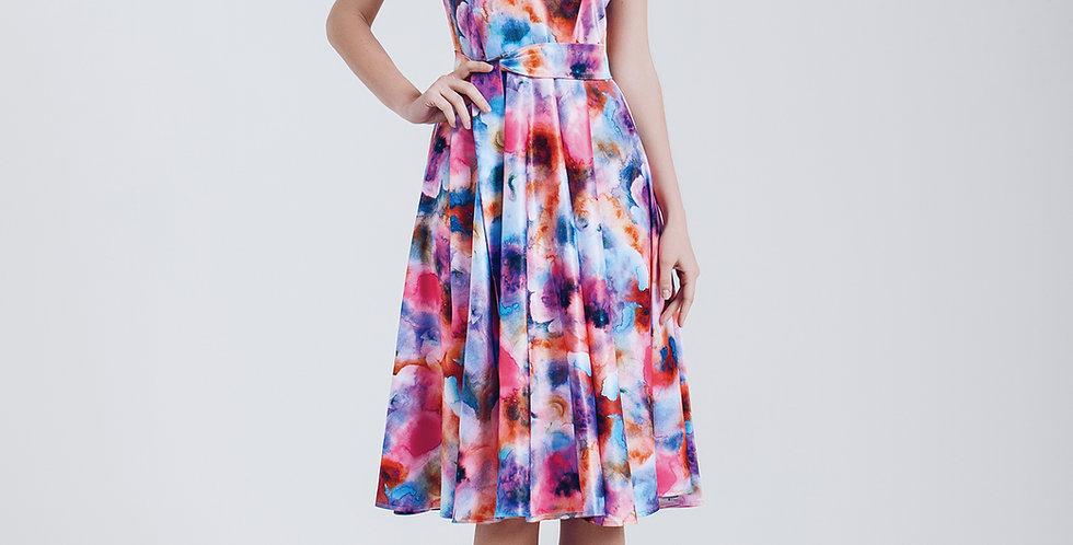 Rainbow Flowered Dress