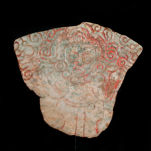 PRE-COLUMBIAN XOCHICALCO PLAQUE OF A STANDING LORD