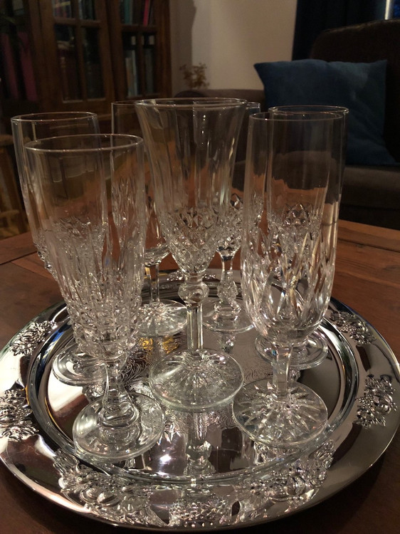 Vackra Champagneglas