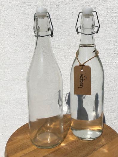 Vattenflaska med snäpplock