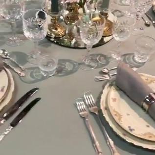 Dukning - runt bord