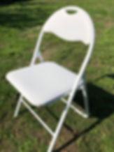 Vit klappstol för fest & bröllop