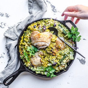 Spring Chicken and Vegetable Paella
