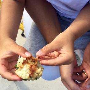 Chicken, Corn and Zucchini Meat Balls