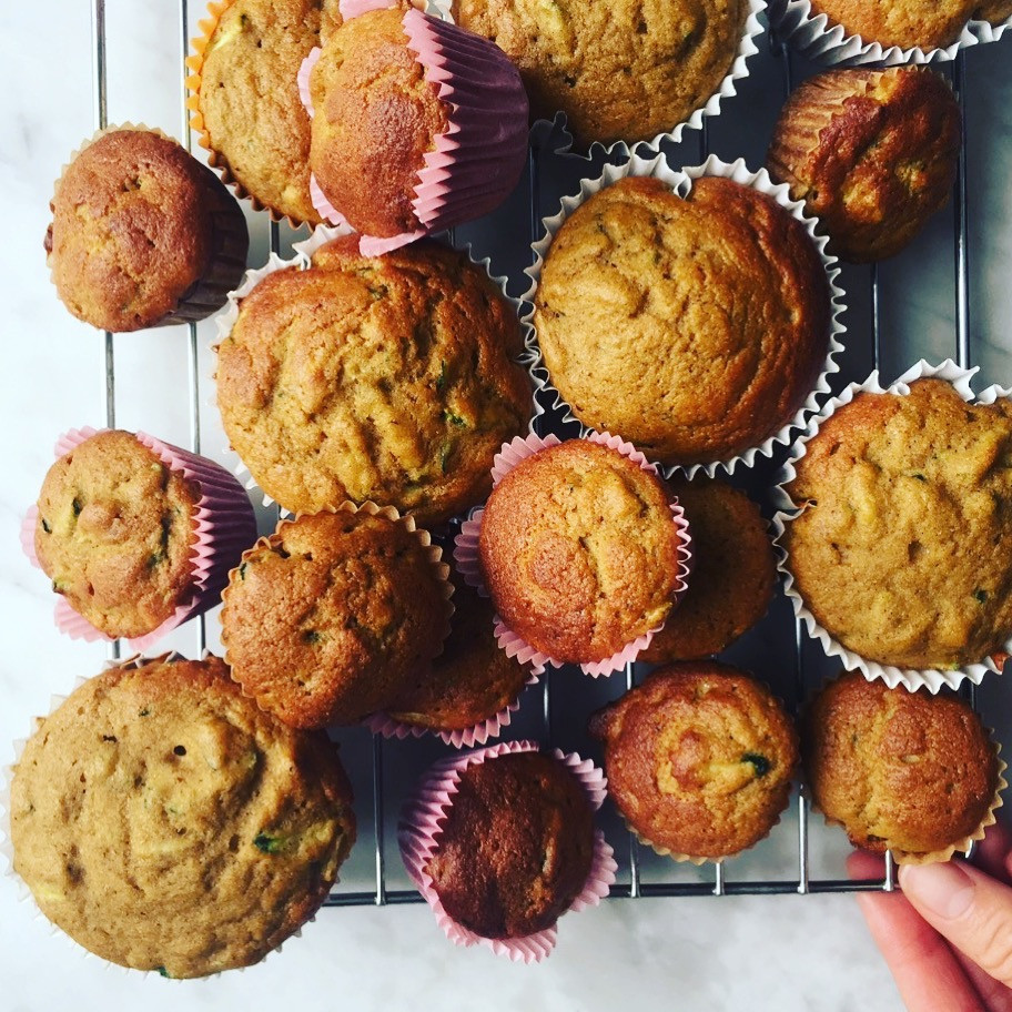 Zucchini and Banana Muffins