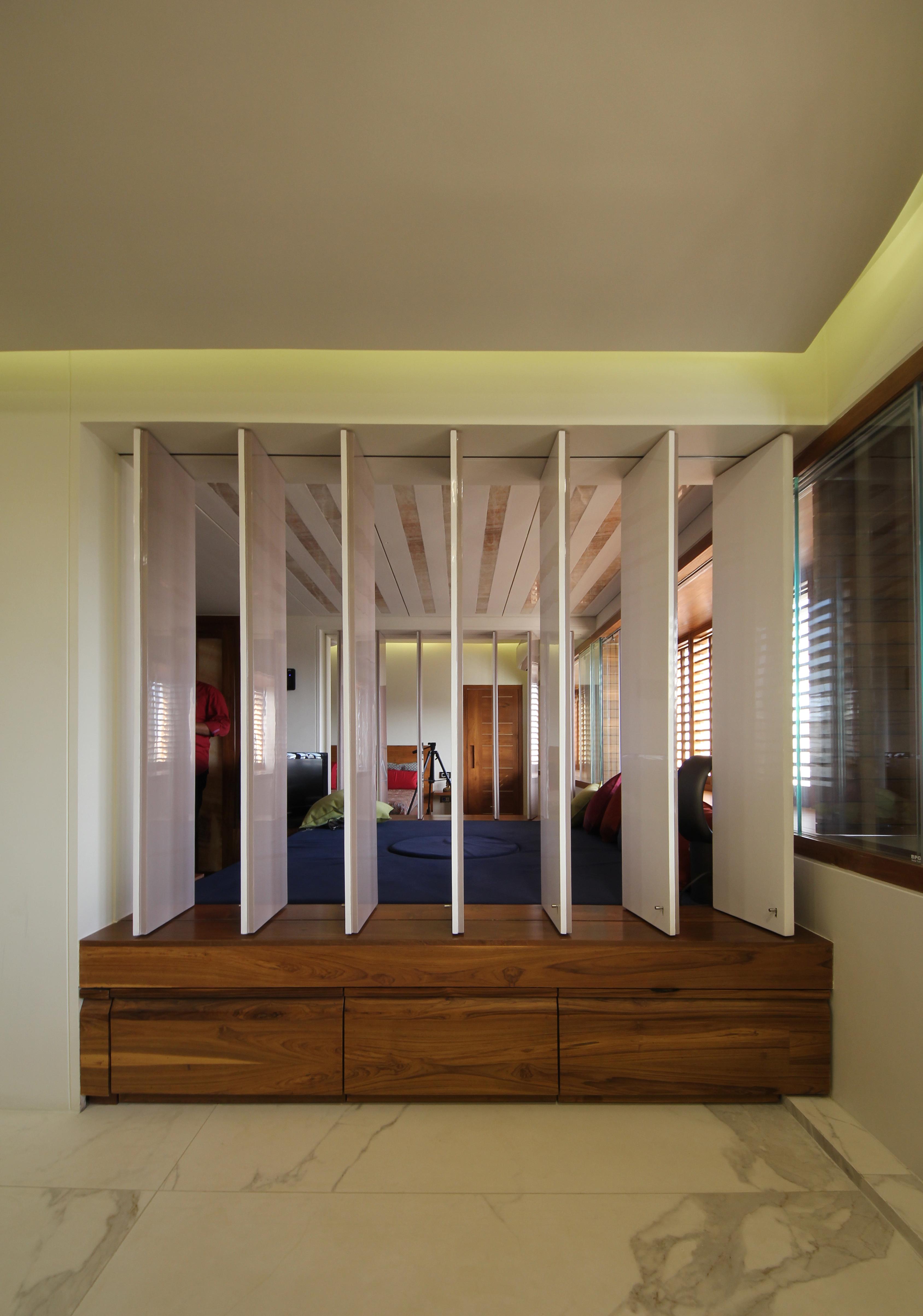 partition between bedrooms