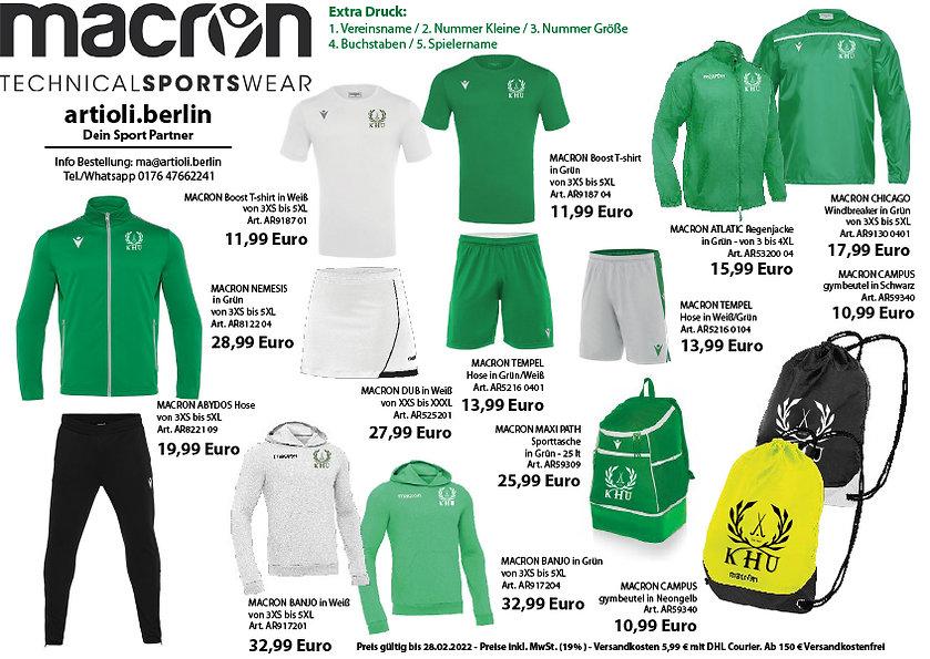 artioli.berlin Macron Berlin Köpenicker Hockey-Union - Hockey Katalog