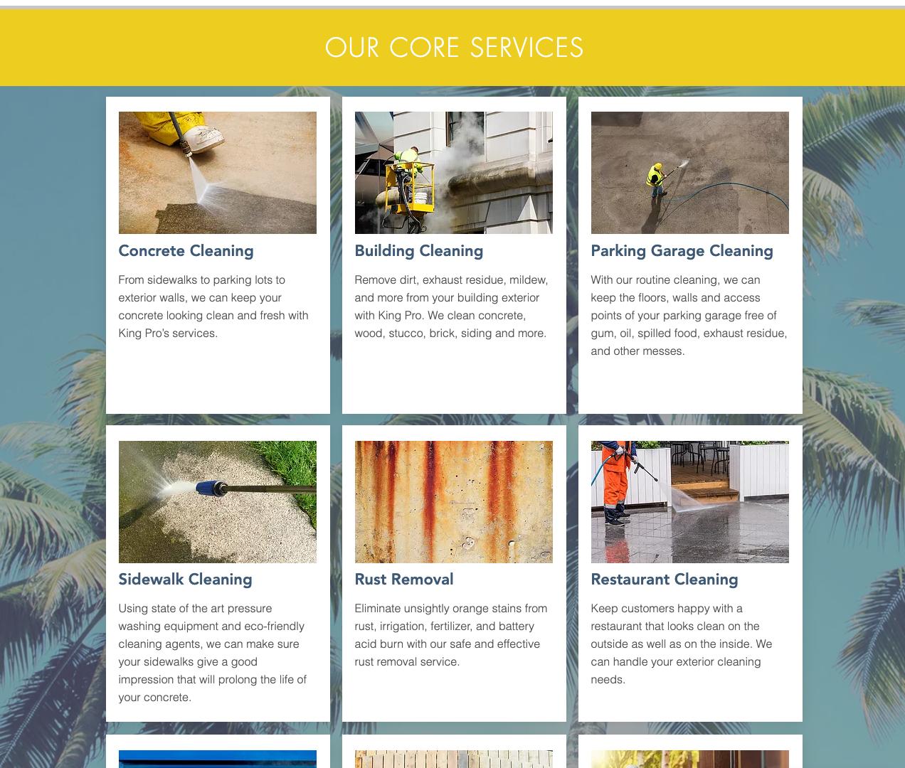 GoKingPro.com Services Page