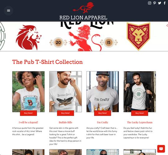 Red Lion Apparel Pub Collection