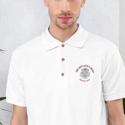 Red Lion's Head Pub Embroidered Polo Shirt