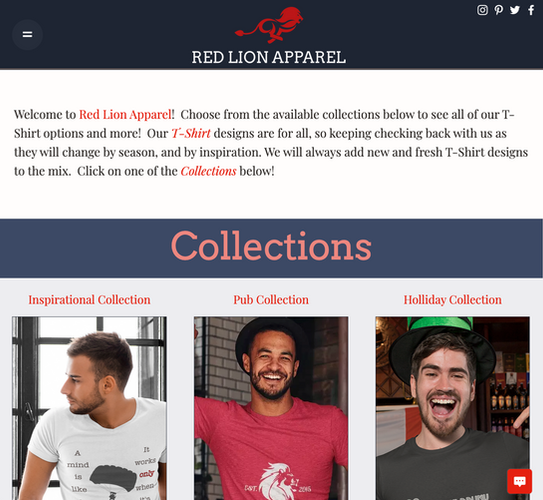 Red Lion Apparel Home Page