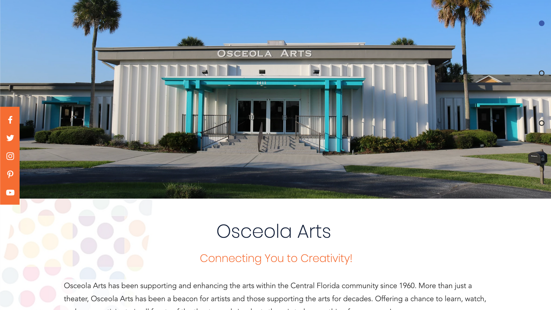 OsceolaArts.org home page