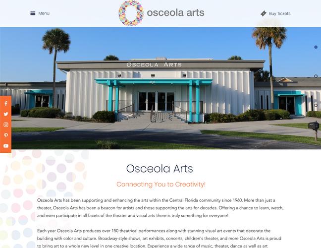 Osceola Arts Home Page