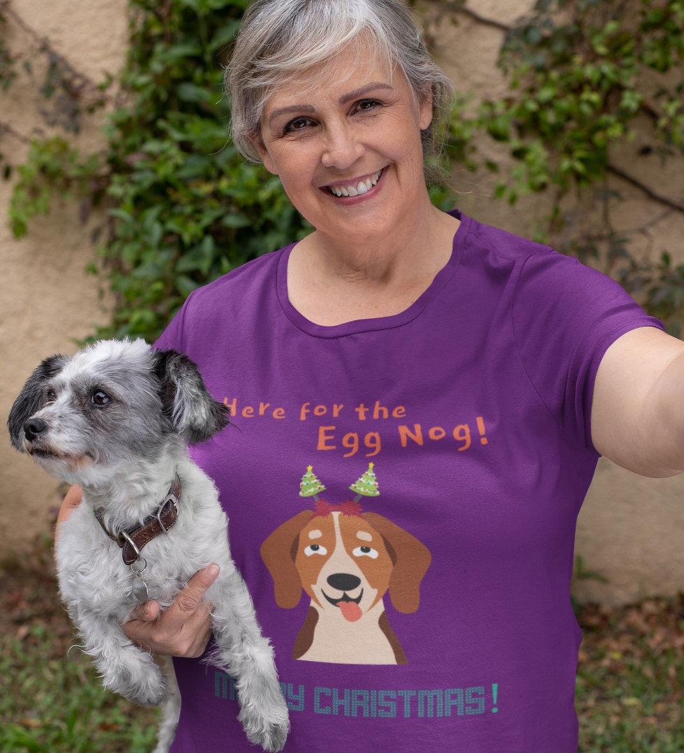 Here For The Egg Nog - Dog