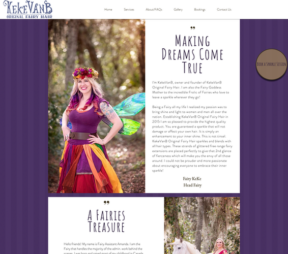 Original Fairy Hair About Page Screenshot