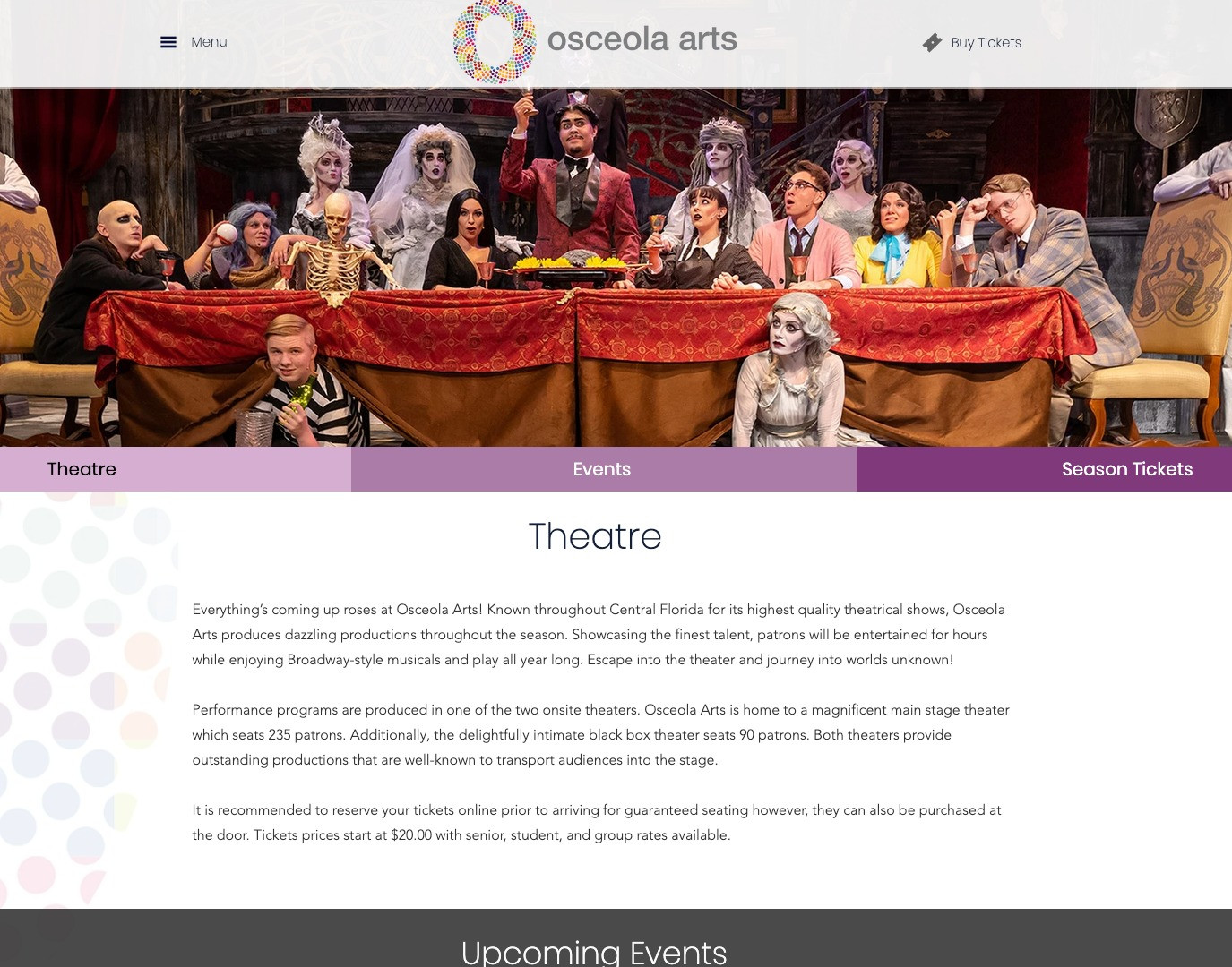 OsceolaArts.org Events Page
