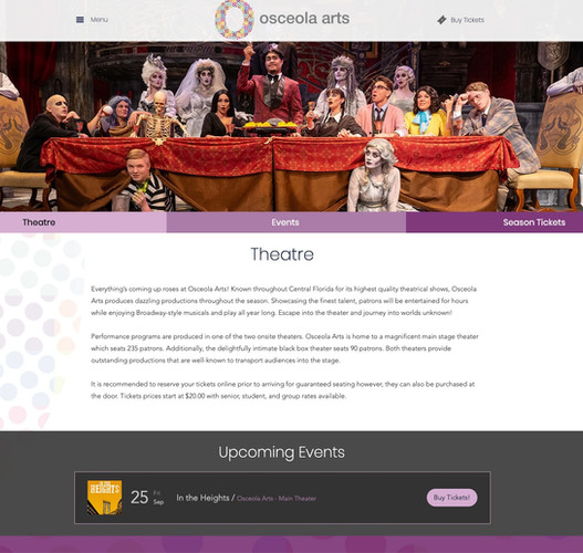 Osceola Arts Theater Page