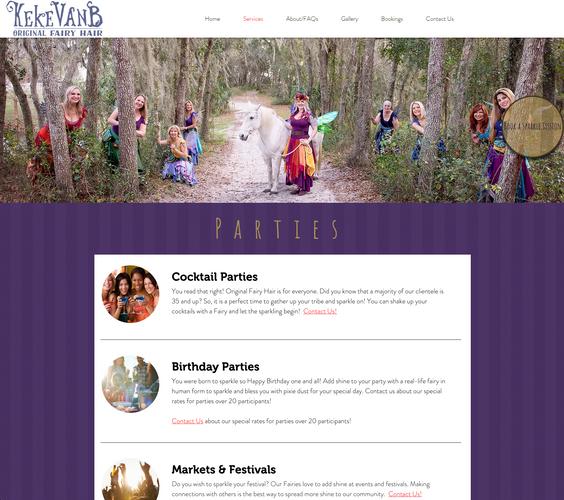 Original Fairy Hair Services Page Screenshot