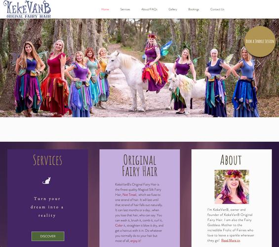 Original Fairy Hair Home Page Screenshot