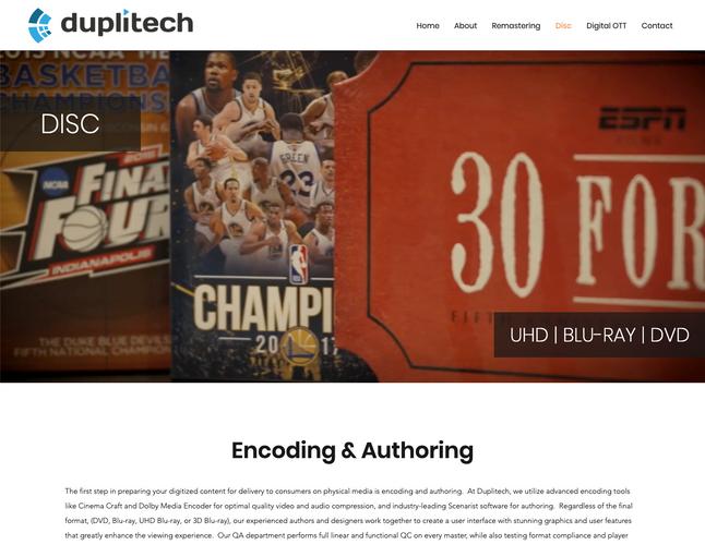 Duplitech Encoding Page