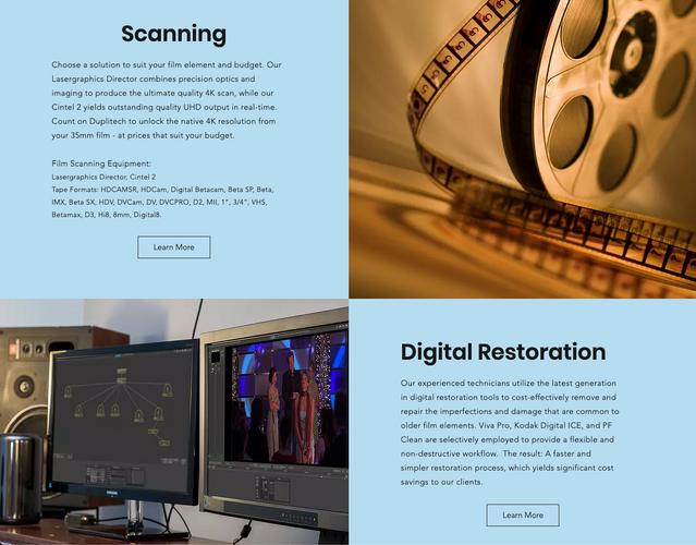 Duplitech Services Page