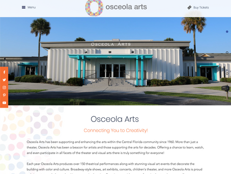 New site launch for Osceola Arts - osceolaarts.org