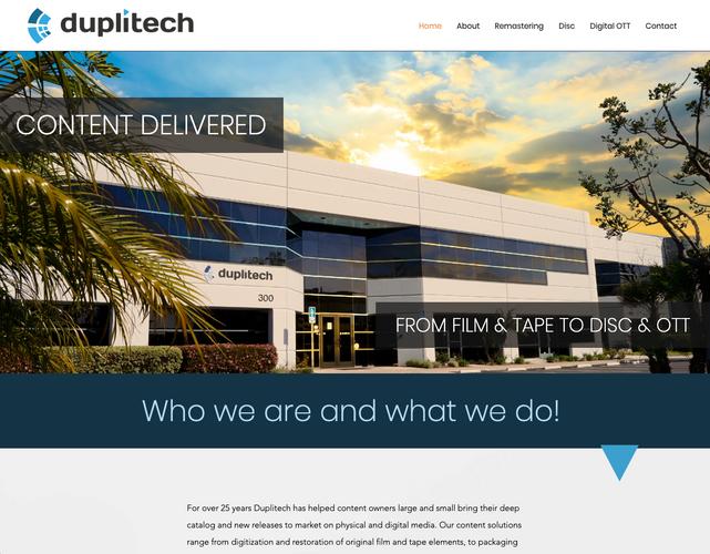 Duplitech.com home page