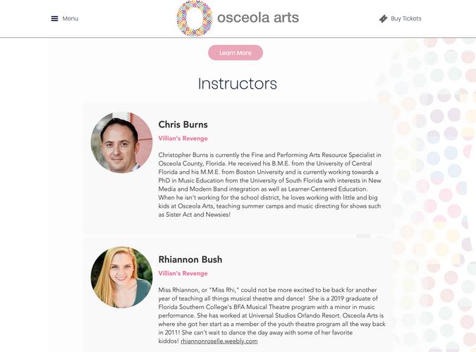 Osceola Arts Instructors