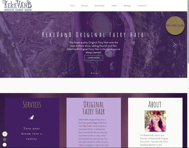 Original Fairy Hair Home Page Scroll