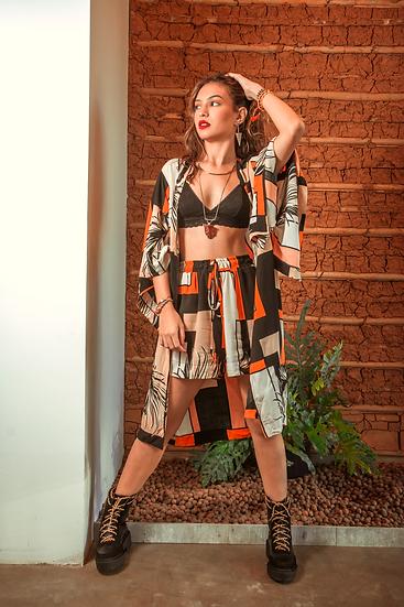 Kimono Zen Geométrico