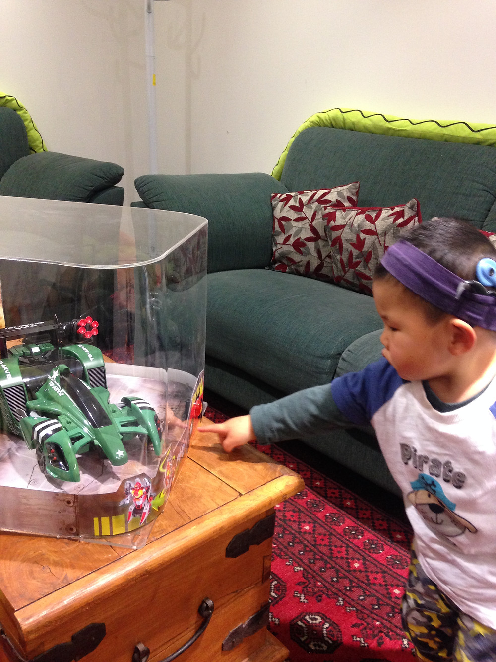 Hearing House client Owen loved playing with the display toy robot that was donated to us by The Warehouse Sylvia Park