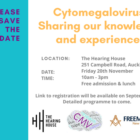 SAVE THE DATE: Cytomegalovirus: Sharing our knowledge and experiences